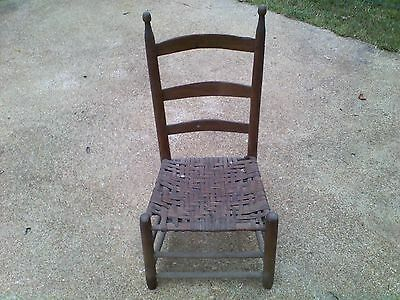 Antique Chair Hand Made Americana Primitive found in a well under 1820s house