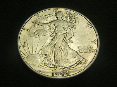1944-D Walking Liberty Half Dollar 90% silver US Type AU mint luster