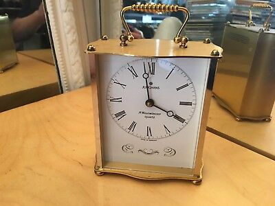 Rare Vintage JUNGHANS Brass Westminster Carriage Clock Made in Germany