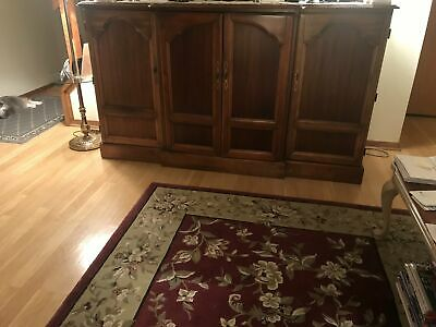 Solid Cherry Wood Entertainment Center   Circa 1990