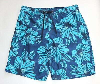345f049344 Old Navy Men's Blue Size XL Swim Board Shorts Surf Trunks Hawaiian Floral  Patter
