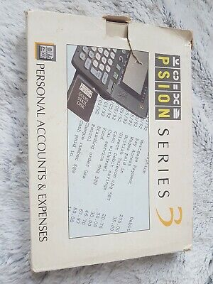 PSION SERIES 3 - Personal Accounts & Expenses