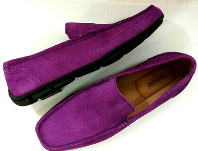 0625b9a3ad9 Alfani Mens Dress Loafer Shoes Plum Purple Suede Leather Drivers Slip On  Casual