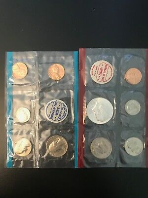1968 United States Mint Uncirculated Coin Set Denver and Philadelphia.