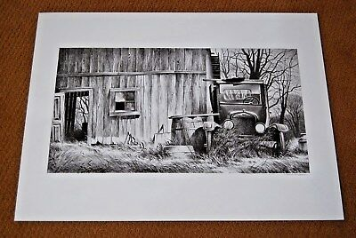1980 ROBERT ADDISON SIGNED Lithograph Model T Ford - LISTED ARTIST