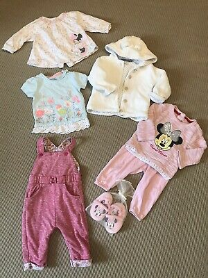 Baby Girls Clothes Bundle 6-9 Months Disney Minnie Mouse Mothercare EarlyDays
