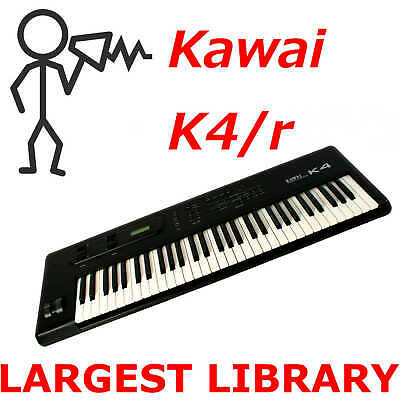 Kawai K4 K4r - 12,000+ Sounds Programs Patches Largest Library - Fast Free Ship