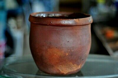 Antique Southeastern Pennsylvania Large Redware Crock in Pale Red