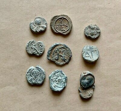 Lot Of 10 (Ten) Byzantine Lead Seals To Be Catalogued. A Nice Lot!
