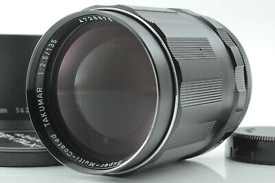 [ Exc+++++ w/Hood ] SMC Pentax Takumar 135mm f/2.5 MF Lens for M42 from Japan 73