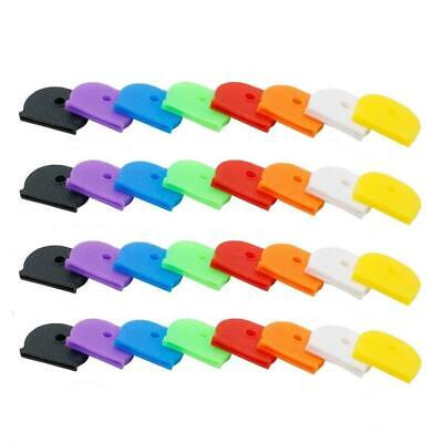 32 Pcs Key Caps Tags, Key Ring Label ID, Silicone Coding Color Key Cover Caps,