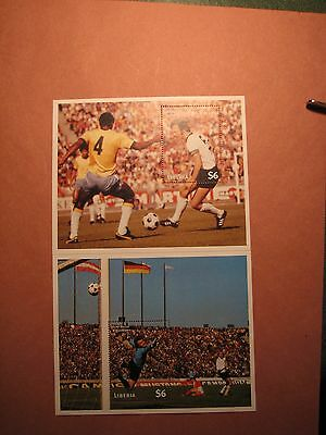 Liberia Stamp Scott# 1302-03 World Cup Soccer 1997 Sheets  MNH L9