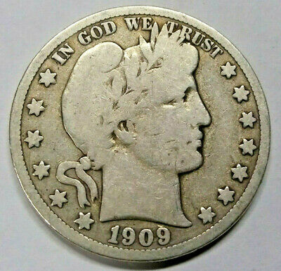 1909* S Barber Half Dollar 90% Silver Us Coin ***no Reserve***free Shipping***