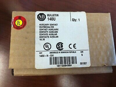 Allen Bradley 140U-H-EA1 Auxiliary Contact New In Box