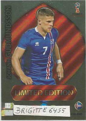 Panini Adrenalyn XL World Cup Russia 2018 Limited  Edition Johann Gudmundssson