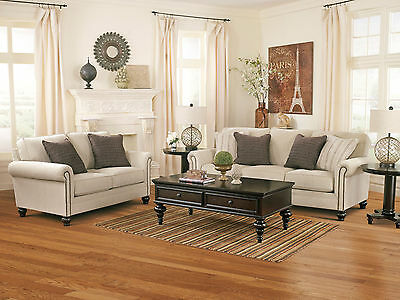 CELINE TRADITIONAL LIVING Room Furniture Couch Set - Beige ...