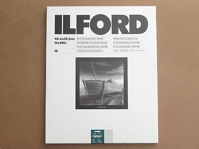 Ilford Multigrade Iv Rc Deluxe Pearl 16 X 20 10 Sht Box New Below Half Price