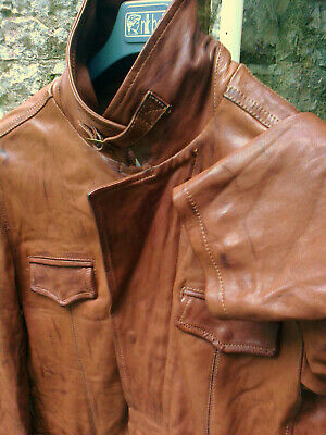 Designer Buttersoft Tan Nappa Leather Field Jacket Shooting/hunting Size Xl/xxl