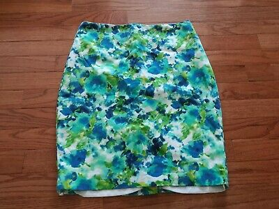 a029644b13 Forever 21 Essentials Women's Watercolor Floral Pencil Skirt Size 2 Small  EUC