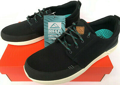 d4d3bc9b8e57 Reef Rover Low TX RF-003185 Black Canvas Loaf Beach Surf Sneakers Shoes  Men s 12