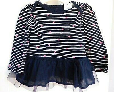 NWT Gap Baby Toddler Girl's Heart Top 0-3M 3-6M 6-12M 12-18M 18-24M MSRP $23 New