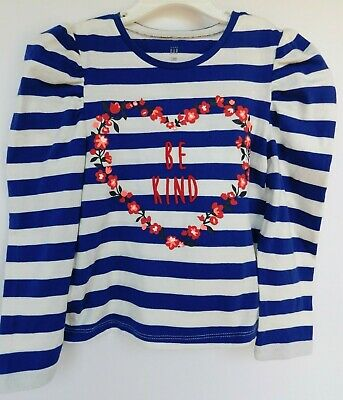 NWT Gap Baby Toddler Girl's Floral Heart T-Shirt Be Kind 12-18M 4 Yr Free Ship