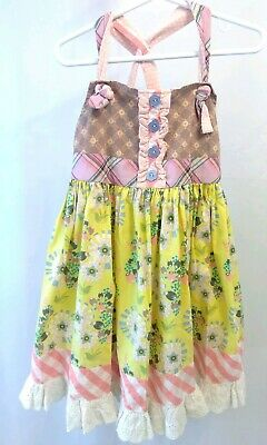 Youth Girls Matilda Jane Size 6 Patchwork Summer Sun Dress Beautiful FAST SHIP