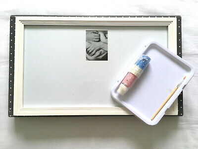 Mothercare ~ Baby's Hand and Foot Print Set With Frame & Paint ~ Create Your Own