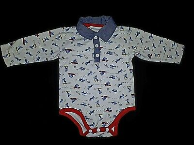 PUMPKIN PATCH Baby Boys Size 000/ US 3-9 M Printed Bodysuit Long Sleeves
