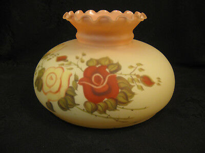 Beautiful Glass Inside Painted Oil Lamp Shade
