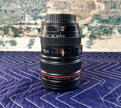 Canon EF 24-105mm F/4 L IS USM Zoom Lens + Accessories + Filters