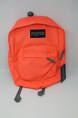 JANSPORT SUPERBREAK BACKPACK School Bag - Tahitian Orange - New with Tags