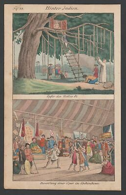 1830 Indien India Vietnam Kambodscha Trachten costumes Lithographie lithograph