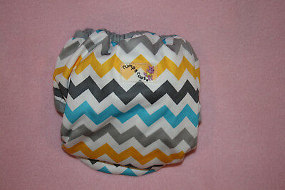 Rumparooz Cloth Diaper Cover Snap, Newborn Charlie