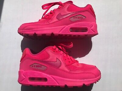 separation shoes 5655a 9dfc0 NIKE AIR MAX 90 Hot Pink Big Kids 4Y 5Y Boys Girls Size Fits WMNS SZ 6