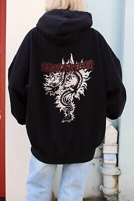 5b05ecec921 brandy melville black oversize fleece Christy Hellraiser hoodie sweatshirt  NWT M