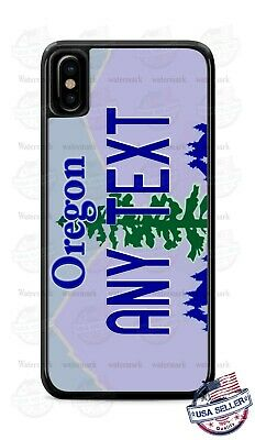 Customized OREGON License Plate Phone Case Cover Any Text for iPhone Samsung