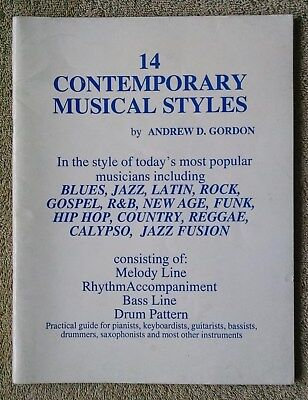 14 Contemporary Musical Styles by Andrew Gordon practical guide for most instrum