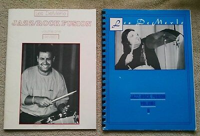 Les DeMerle Jazz-Rock Fusion Volumes I and II 1 2 1982/1984 drum lessons how to