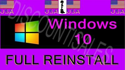 Microsoft Windows 10 HOME (32 64) - FULL INSTALL**Restore**Repair**Recover* (7-8