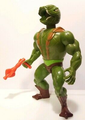 KOBRA KHAN He-Man MOTU complete vintage figure w/orange gun weapon