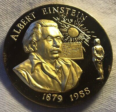 Albert Einstein! 1 Troy Oz Sterling Silver Art Round 925 1879 1955