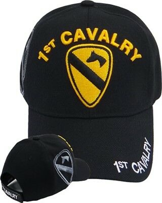 84842c293683c US Army 1ST CAVALRY Division Ball Cap First Team Vietnam Gulf War OEF OIF  Hat