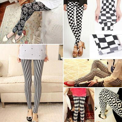 Women Jeggings New Leggings Pants Casual Pencil Trousers Print Stretchy Skinny