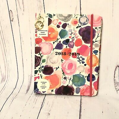 "Kate Spade Large ""Floral"" Daily Planner 2018-2019 Weekly Monthly !NEW!"