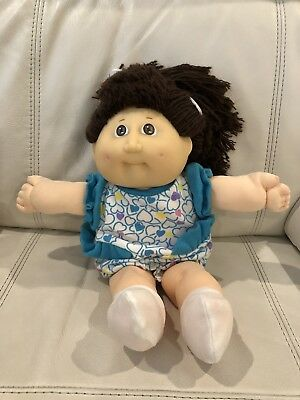 "HTF Cabbage Patch Coleco Toddler Girl (13"") With Brown Hair & Brown Eyes"