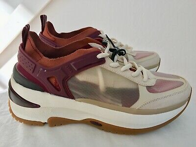 Zara Multi Pieced Clear Sneakers Multi Color Size 6.5/37-NWT Ref 6456/301