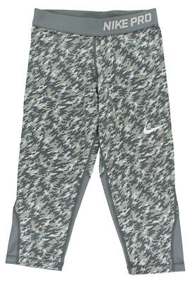 Nike Girls Pro Cool Allover Print Capris Cool Grey