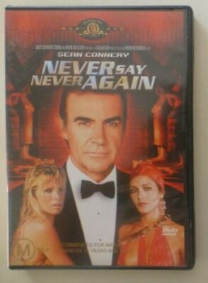 NEVER SAY NEVER AGAIN dvd REGION 4 / sean connery / MGM/ RARE OOP /mint