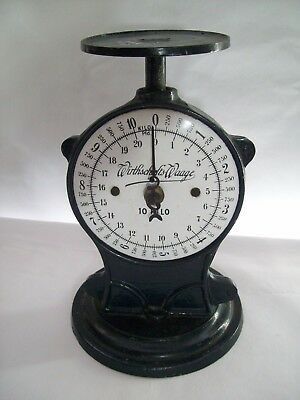 Antique Cast Iron Wirthschafts Waage Scale 10 Kilo Made in Germany